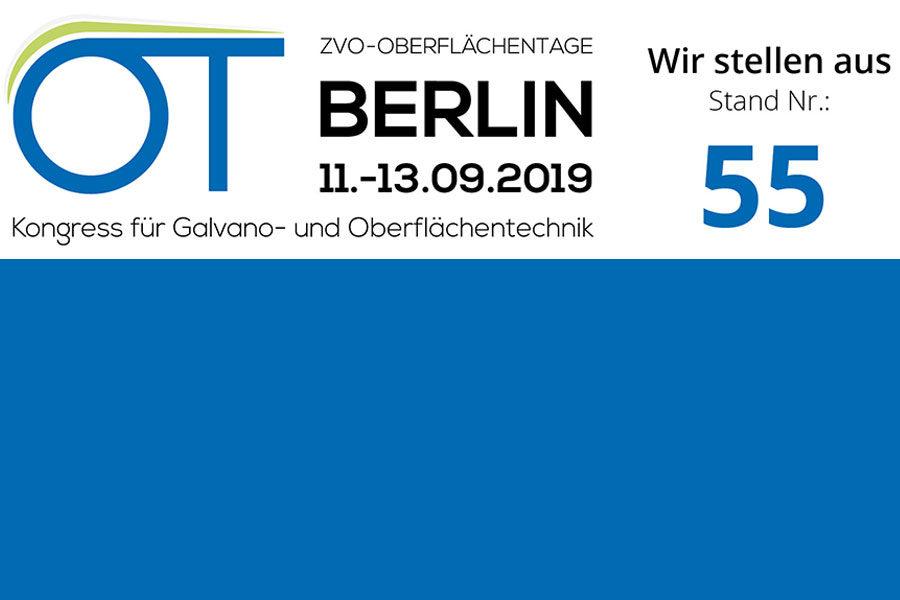 ZVO-Oberflächentage in Berlin | 11. – 13. September 2019