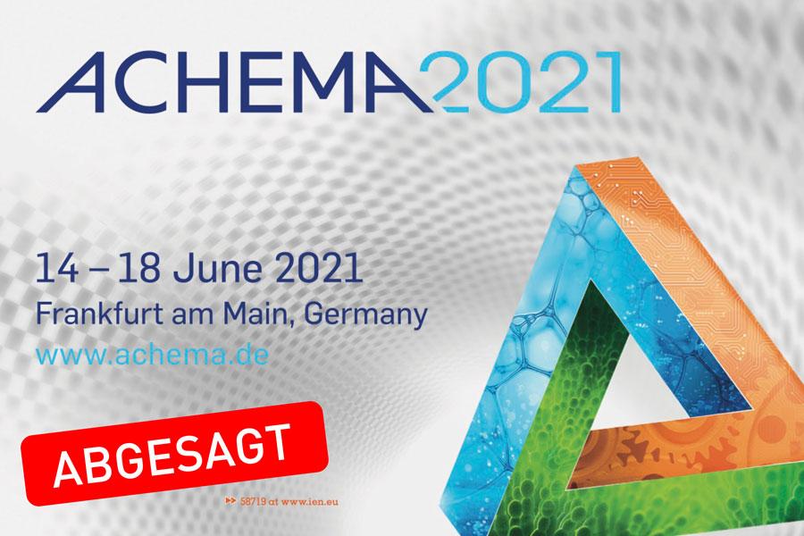 ACHEMA 2021 abgesagt